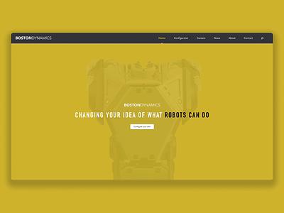 Boston Dynamics boston dynamics adobexd web interface interface ux ui