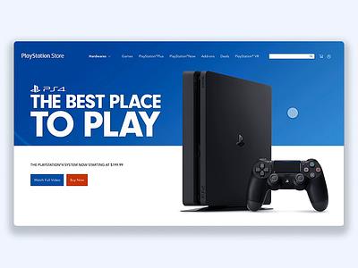 Sony - Playstation Store adobexd dualsense dualshock playstation5 playstation4 playstation sony web interface ux ui
