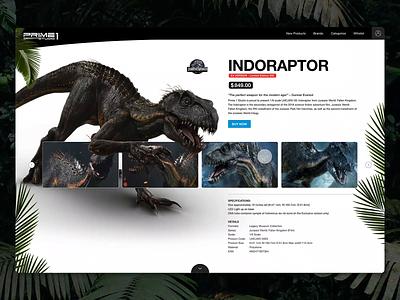 Prime One Studio - Store jurassik world dinosaurs prime one studio adobexd web interface interface ux ui