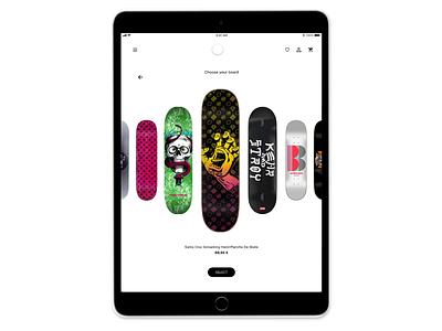 Skateboarding configurator createwithadobexd skateboard skater skate interface ux ui