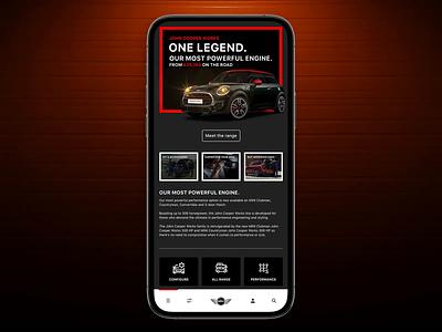 MINI - Official Website mobile app design mobile ui mobile design mini adobexd createwithadobexd interface ux ui