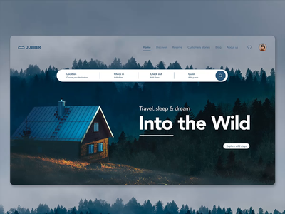 Into the Wild createwithadobexd adobexd interface ux ui