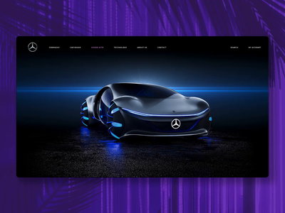 VISION AVTR – inspired by AVATAR. createwithadobexd adobexd web interface avatar conceptcar cars mercedes-benz mercedes ux ui