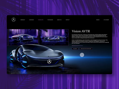 VISION AVTR – inspired by AVATAR. concept car car avatar mercedes-benz mercedes createwithadobexd adobexd web interface interface ux ui