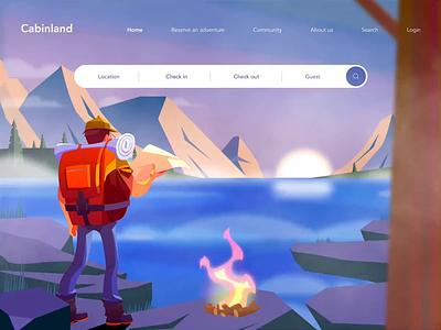 Cabinland figma figmadesign illustration interface ux ui