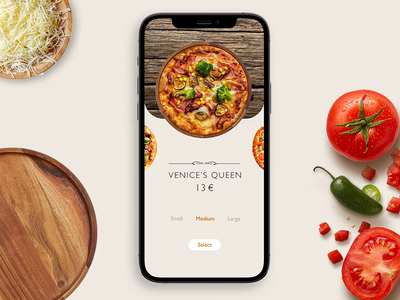 Pizza App food app pizza adobexd adobe app animation ux ui