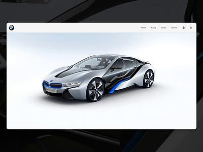 BMW I8 Concept principleapp sketchapp cars i8 concept bmw interface web interface ux ui