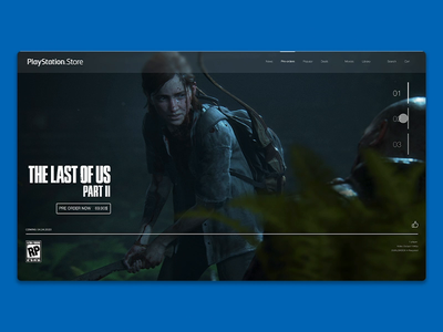 PS Store ghost of tsushima ghost of tsushima the last of us cyberpunk 2077 playstation4 playstation sony adobexd interface ux ui