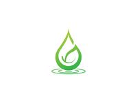 Green Water Drop Logo