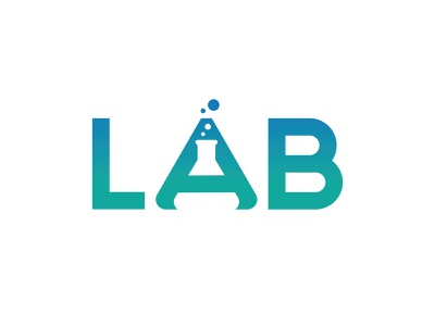 LAB Logo beautiful healthy laboratory health typography logo design