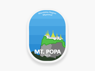 Mount Popa vectordesign illustration mtpopa myanmar