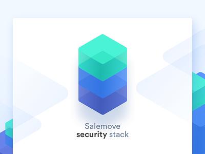 Concept for SaleMove.com security page illustrations landing security stack ux ui web salemove cx customer experience