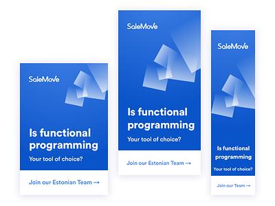 We are hiring engineers! job web office cx ux ui estonia developer engineer ads blue hiring