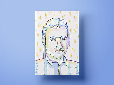 Vlad the security guy portrait design illustrations colors poster illustration customer experience cx ui ux salemove