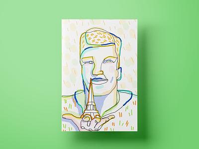 Ostap portrait illustrations colors design poster illustration customer experience ui cx ux salemove