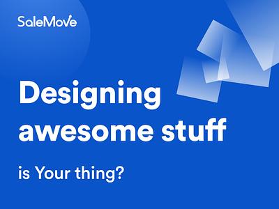 We are Hiring! website cx ux customer experience branding webdesign ui designers work hire salemove hiring