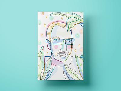 Siim H colors portrait website landing page ux cx ui illustration design poster salemove