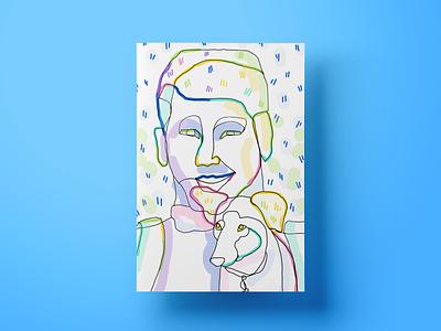 Urmas lineart design illustration colors illustrations web quote poster chat landing page website ui cx ux salemove