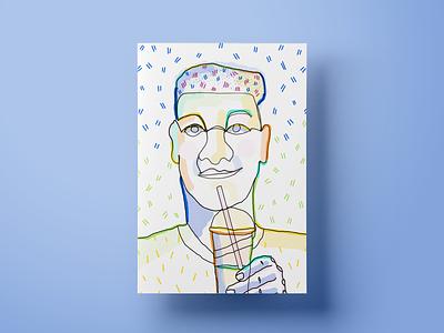 Carlos design poster illustration customer experience salemove
