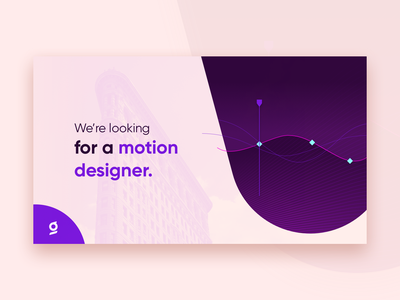 Hiring ad for motion designers customer experience poster ads motion design hiring glia cx