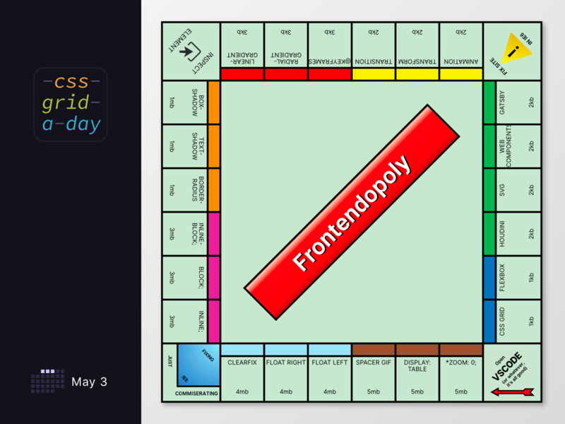 Monopoly, but in CSS Grid cssgrid grid