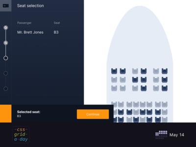 Flight Seat picker   CSS Grid May 14