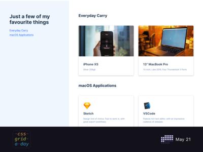 Things I Use   CSS Grid May 21