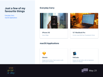 Things I Use | CSS Grid May 21 layout grid layout grid design css grid css