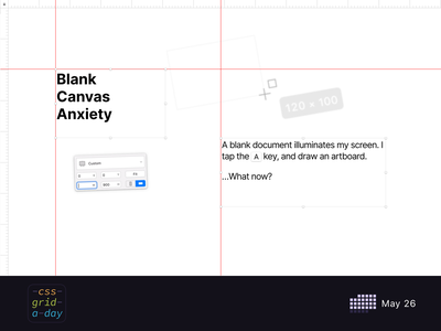 Blank Canvas Anxiety | CSS Grid May 26 layout ui sketch design css grid