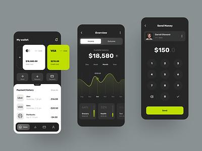 Banking Mobile App transfer card mobile app mobile ui app mobile app design mobile design finance fintech banking bank finance app finances financial financial app bank app banking app app design