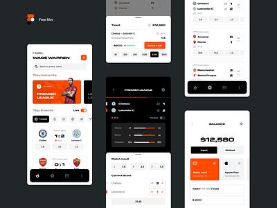 MW | Betting Mobile app free freebie dashboard player soccer product design app interface gambling concept ui ux score bookmaker popular app design bet football betting app sport