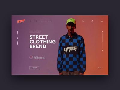 10.DEEP | online shop minimal typography website design web ux ui streetwear shop fashion e-commerce color