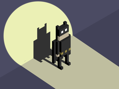 Batman Animated Series pixel art illustrator art design 8bit art grid batmananimatedseries batman isometic pixel art illustration