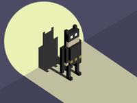 Batman Animated Series pixel art