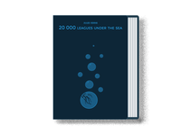 20.000 Leagues under the Sea minimal book cover