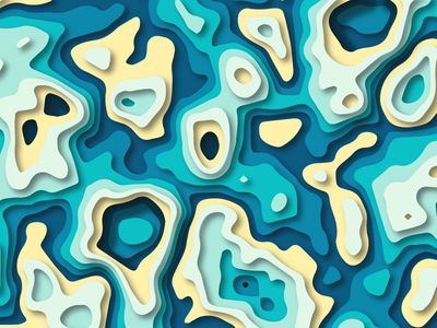 Pool Of Colors papercut paper art layer-art flat  design illustration