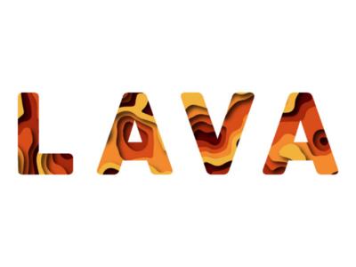 Lava layers lava word art illustrator paper cut layer art layers illustration