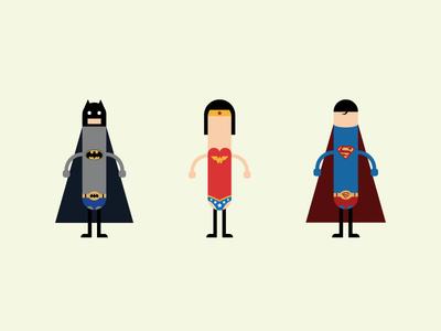 Superhotdogs illustrator art hotdogs wonder woman superman batman superheroes simple design flat illustration flat  design