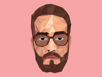 Low poly portrait portrait shapes geometry ilustratorcc illustration low-poly art lowpoly