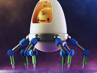 Baby egg 3dillustration 3d art 3dmodel 3d cinema4d c4d