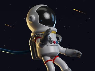 astronaut 3dillustration 3d art vray 3dmodel 3d cinema4d c4d