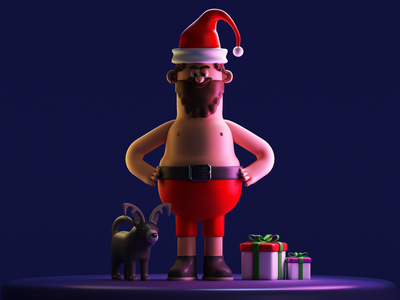 Santa´s Brother illustration characterdesign 3dcharacter 3d art 3dillustration vray 3dmodel 3d cinema4d c4d