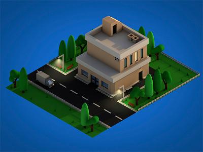 Another Isometric Building 3dmodel 3d bulding isometric c4d cinema4d