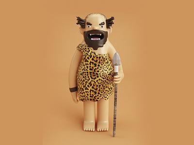 Crazy Caveman 3dmodel 3d mosnter caveman vray c4d cinema4d