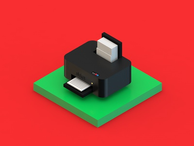 Isometric Printer 3dmodel 3d printer isometric c4d cinema4d