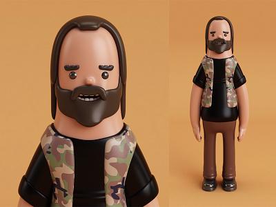 Militar Vynil Toy vynil toy 3dmodel 3d beardman vray c4d cinema4d