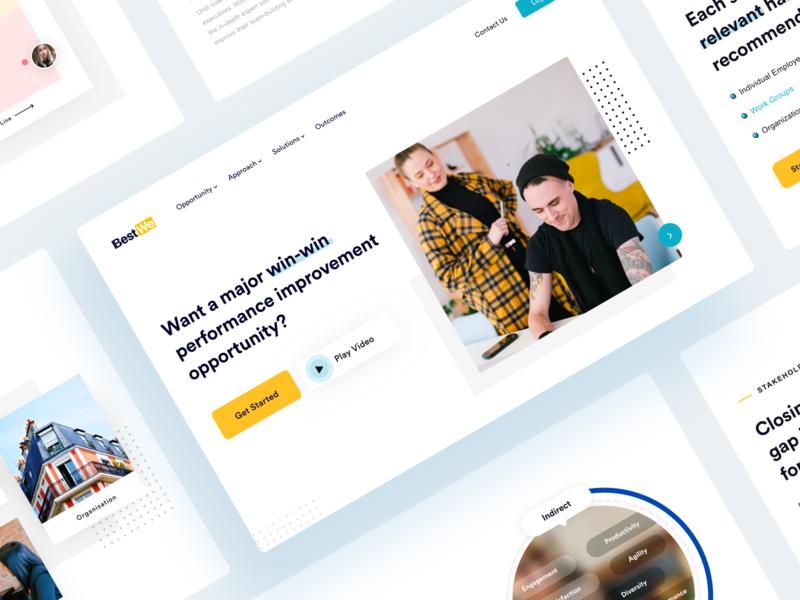 Best we Landing Pages website artificial design mobile icon illustration agency best design