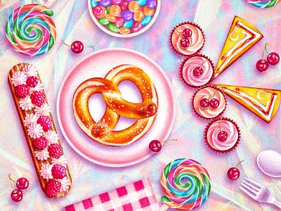10k Followers - thank you ❤️ 10kfollowers 30k 20k 10k 5k agency cupcake pancake candies pretzel sweet dessert cake india brucira agent ux ui vector illustration