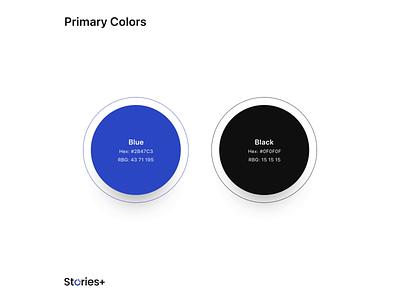 StoriesPlus Branding video gif colours app web blue design icon vector typography logo branding ux ui illustration