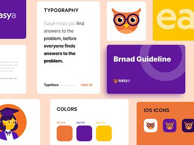 EasyA Branding edutech owl design logodesign logo branding